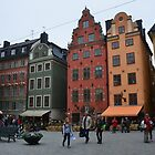 Street Scene-Old City-Stockholm...SWEDEN by Leslie-Ann