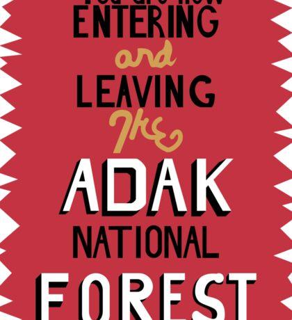 Adak National Forest Sticker