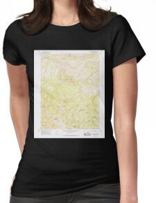 USGS TOPO Map California CA Sanhedrin Mtn 300220 1966 24000 geo Womens Fitted T-Shirt