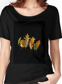 autumn oak leaves levitating Women's Relaxed Fit T-Shirt