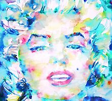 MARILYN MONROE - watercolor portrait.5 by lautir