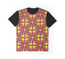Floral and Star Springtime Pattern Graphic T-Shirt
