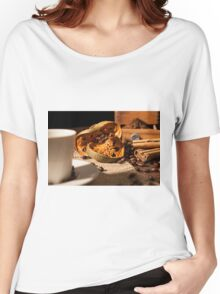 Close-up on dried orange fruit and cinnamon sticks Women's Relaxed Fit T-Shirt