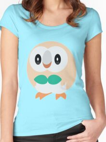 Rowlet Pokemon Sun and Moon Women's Fitted Scoop T-Shirt
