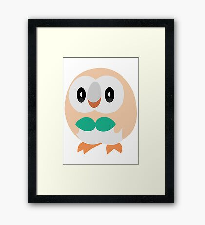 Rowlet Pokemon Sun and Moon Framed Print
