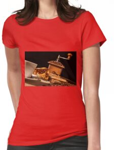 Close-up on dried orange fruit and cinnamon Womens Fitted T-Shirt