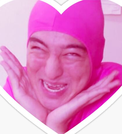 Love Pink Guy Sticker