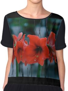 Low Light Amaryllis Chiffon Top