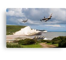 Nine Sisters - Lancasters over the south coast Canvas Print