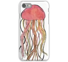 Red Water Color Jelly Fish iPhone Case/Skin
