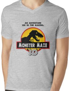 3D Monster Maze Mens V-Neck T-Shirt