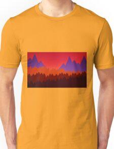 Landscape Silhouette Unisex T-Shirt