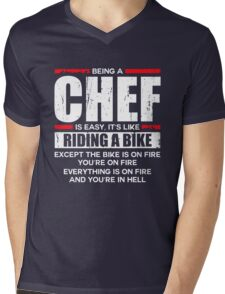 Being a Chef is Easy its Like Riding a Bike Mens V-Neck T-Shirt