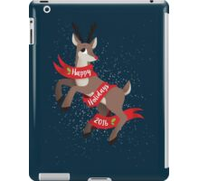 Happy Holidays 2016 Rudolph Reindeer Design iPad Case/Skin