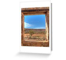 View Through an Outback Australian Window Greeting Card