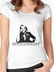 Kate McKinnon Black and White Women's Fitted Scoop T-Shirt