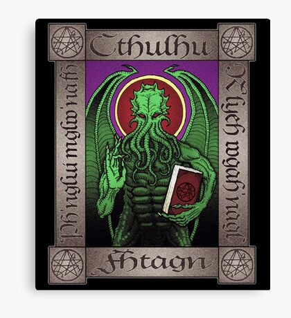 Cthulhu Icon Canvas Print