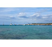 Boats at Cala Conta (Ibiza) Photographic Print