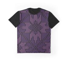 Purple Flower Pattern Graphic T-Shirt