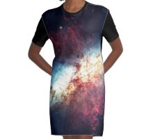 The Universe Graphic T-Shirt Dress