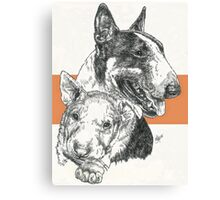Bull Terrier Father & Son Canvas Print