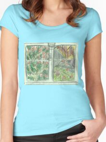 Through the Window Women's Fitted Scoop T-Shirt