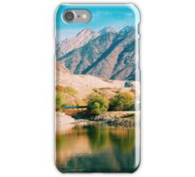 Wasatch Mountains Over a Lake iPhone Case/Skin