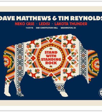 Dave Matthews & TIM Reynolds, Neko Case Ledisi Lakota Thunder DAR Constitution Hall Washington DC Sticker