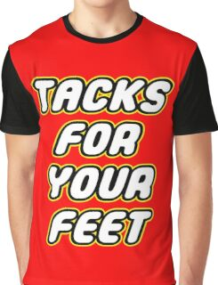 Tacks For Your Feet - Lego Parody Graphic T-Shirt