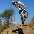 Downhill mountain biker by turniptowers