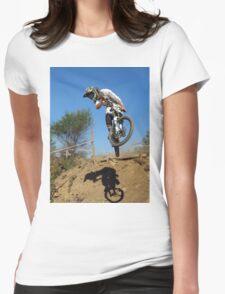 Downhill mountain biker Womens Fitted T-Shirt
