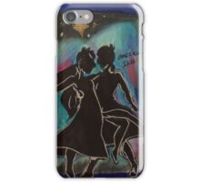 Silhouettes can dance too iPhone Case/Skin