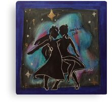 Silhouettes can dance too Canvas Print