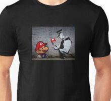 Banksy - Policeman and Mario's mushroom Unisex T-Shirt