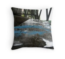 Ice Cube In Blue Disquise Throw Pillow