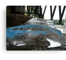 Ice Cube In Blue Disquise Canvas Print