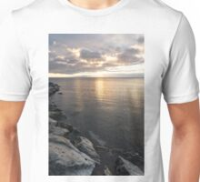 Silvery Serenity - a Peaceful morning on Lake Ontario Unisex T-Shirt