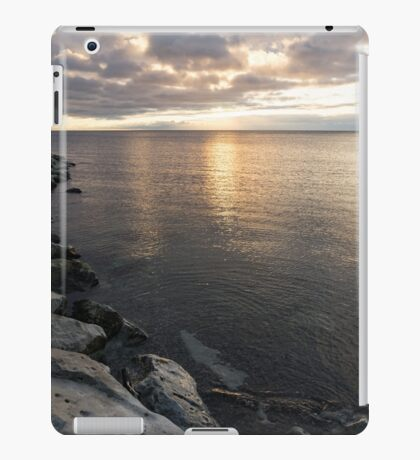 Silvery Serenity - a Peaceful morning on Lake Ontario iPad Case/Skin