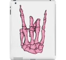 Skeleton hand | Pink iPad Case/Skin