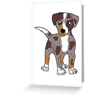 CLD red merle cartoon Greeting Card