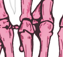 Skeleton hand | Pink Sticker