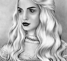 'The White Queen' - Alice in Wonderland by lesleycsage