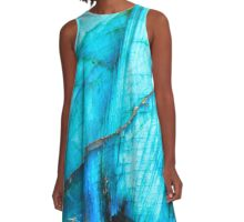 Blue Labradorite A-Line Dress