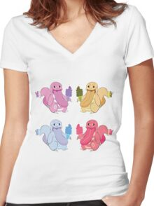 POP Cheat Day Women's Fitted V-Neck T-Shirt