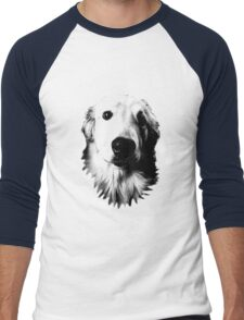 Who Me? Funny Dog Expressions. Golden Retriever Images. Men's Baseball ¾ T-Shirt