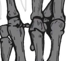 Skeleton hand | Black Sticker