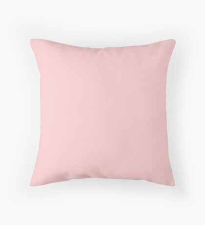 Rose Quartz | Pantone Color of the Year 2016 | Solid Color Throw Pillow
