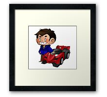 James and Toy Car  Framed Print