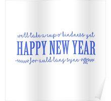 Happy New Year - Auld Lan Syne Lyrics Poster