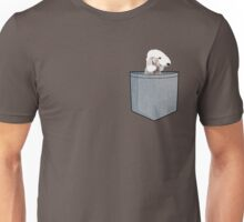 Bedlington Terrier Blue Pocket Tee  Unisex T-Shirt